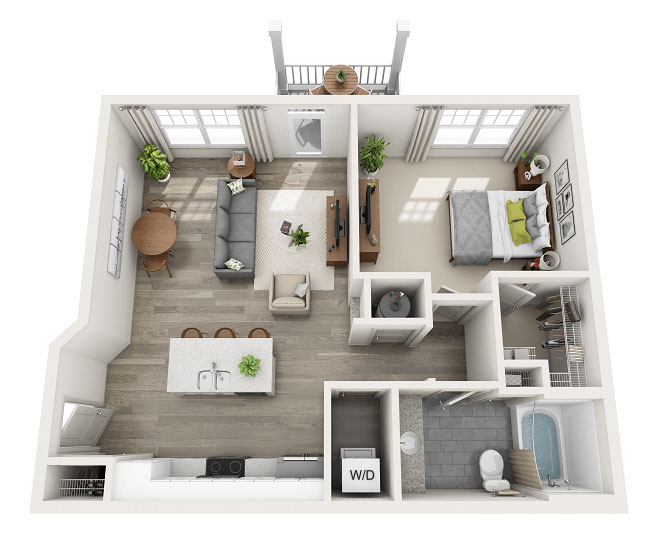Floor Plans For Apartment Homes According To Bedroom